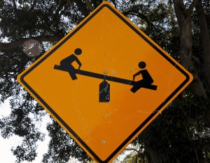 teeter-totter-sign