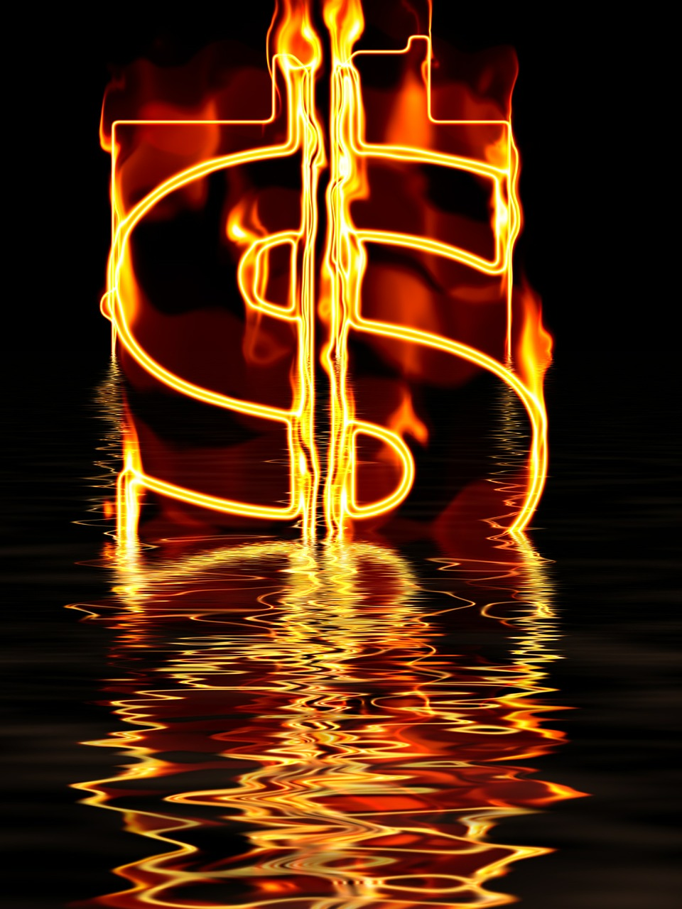 Burning Dollar Falling Dollar
