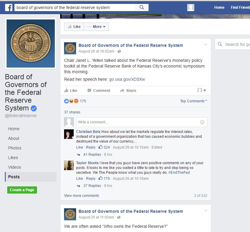 Gold and the New FOMC Facebook Page