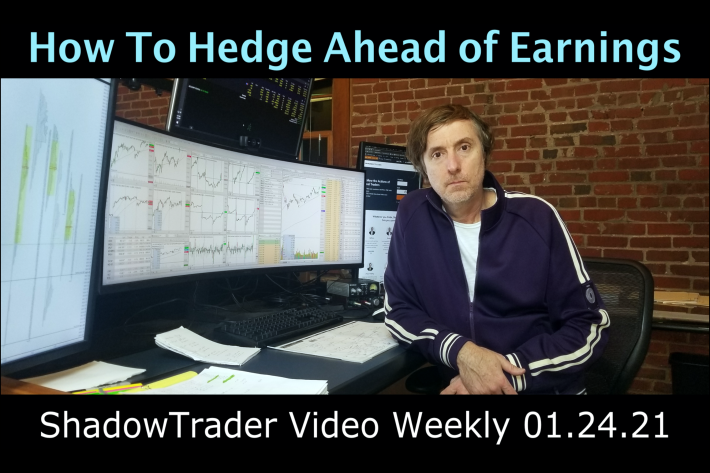 How to Hedge Ahead of Earnings | ShadowTrader Video Weekly 01.24.21